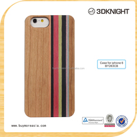 Real mixed wood PC phone protective cover case for iPhone 6 6s 4.7inch