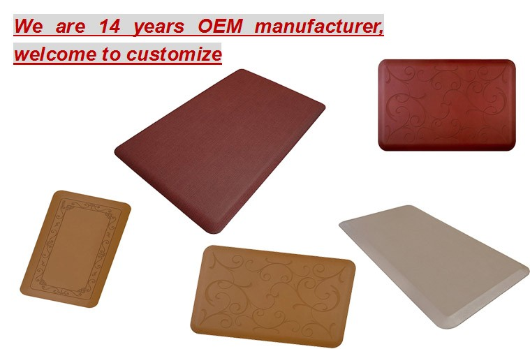 professional China OEM waterproof kitchen floor mats