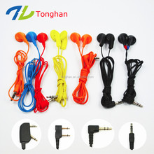 Cheapest disposable promotional earbuds airline earphones single use earphones from factory