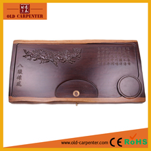 Tranditional Chinese Eight Gallopping horses carving business gift wooden tea tray