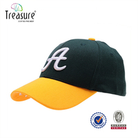 Hot Sale Embroidery Logo Short Brim Soft Mesh Baseball Cap Closed Back Cap