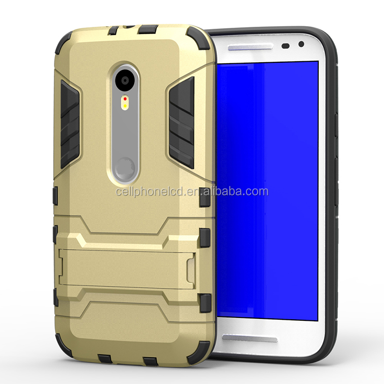 Hot Selling Mobile Phone Case for Motorola Moto G3 Back Cover Case with Stand