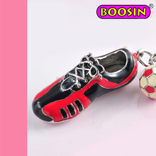alloy enamel sports shoes pendant / football shoes key charm wholesale
