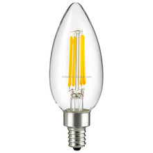 Best selling C35 e27 e14 3.5W Candle Filament LED Light For Home with dimmable