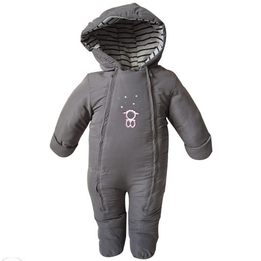 Infant Boys Snowsuit Baby 3-18 Months Cotton Hooded Baby Clothing Winter Overalls For Kids Warm Newborn Baby Snowsuit  #78-7/53