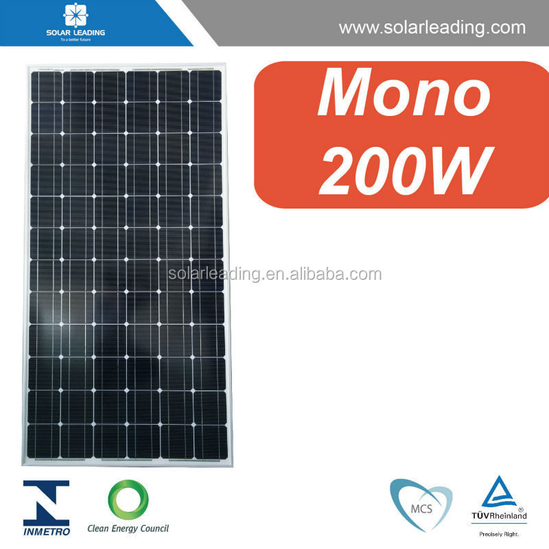High-power module 200W / Monocrystalline Photovoltaic PV Solar Panel Module for 12V Battery Charging