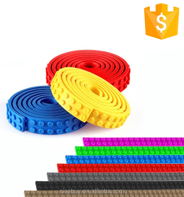 Magnetic Plastic Kids Silicone Building Blocks Tape For Children High Quality Educational Toy