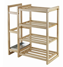 Shoe Rack and Organizer 4 Storage shelves with Umbrella Stand