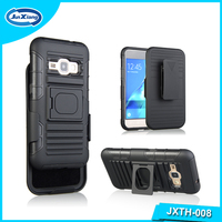 Patented Product Plastic Mobile Cover Stand Holster Combo for Samsung Galaxy j120