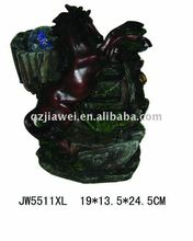 Home decorative fengshui polyresin horse water fountaine foe sale
