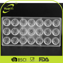 Eco-friendly PC plastic chocolate mold (HY520)