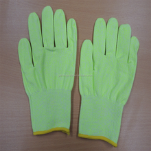 2017 Popular sale cut resistant PU coated safety gloves for work gardening used