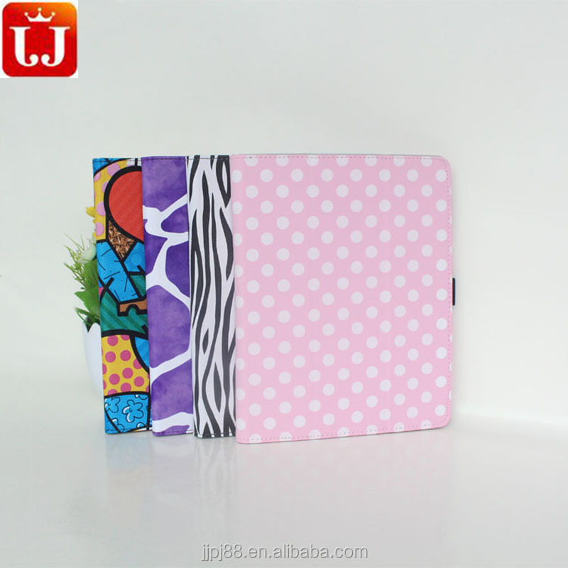 Hot sale Stand leather cartoon case for ipad 3 with many colors