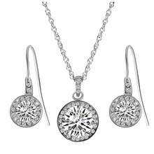Tryme Big Round Crystal Zircon Set Jewelry Sets for Women
