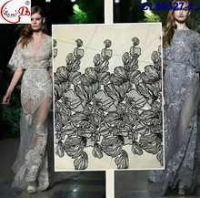 Italy Fashion Show Dress lace 2016 Model show 3d net lace African Hot Sale White wedding dres french lace in stock