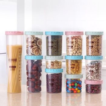 Cheap Wholesale Different size high quality plastic food storage container jar