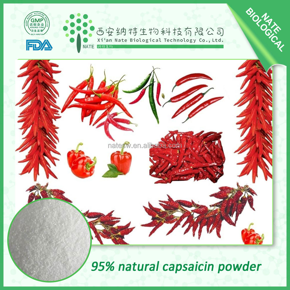 High purity natural 95% capsaicin powder capsicum extract