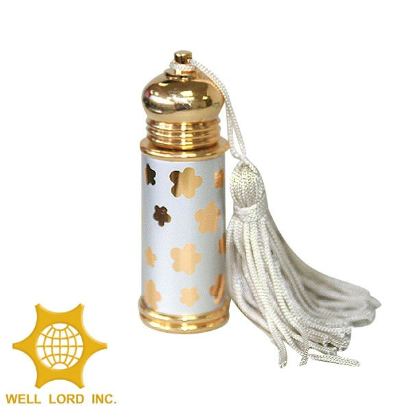 High end European white aluminum glass stick included perfume bottle