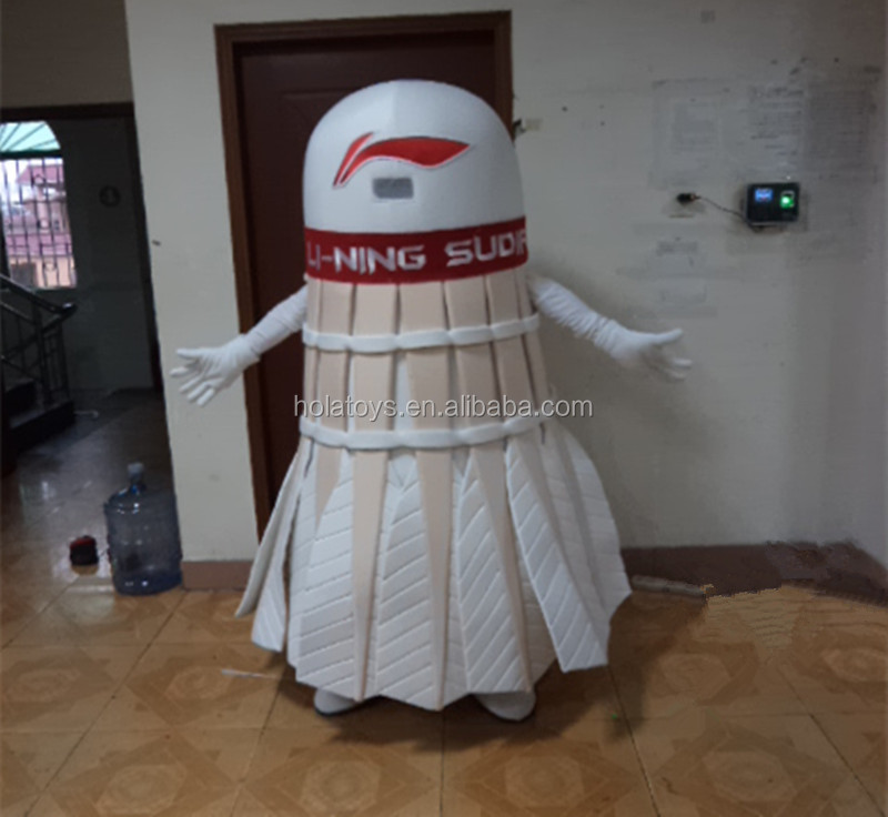 Adult badminton costume/cartoon mascot costume for promotion