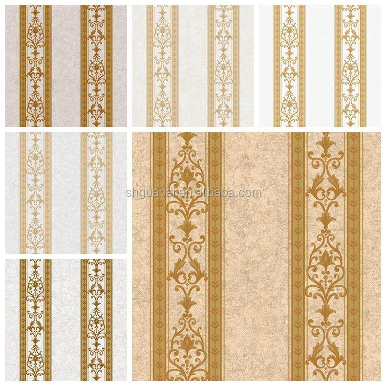 2016 golove newest classic design high quality cheap price non woven backed pvc flower wallpaper