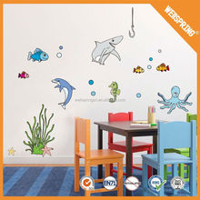 Worth purchasing none-toxic fashion dolphin decoration wall sticker
