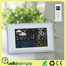 weather station with outdoor sensor