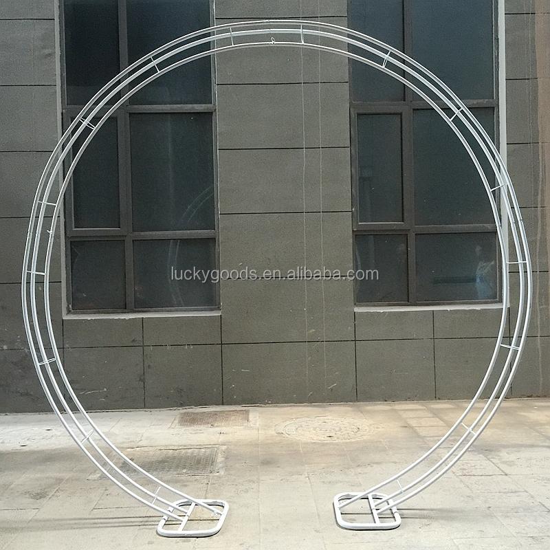 Wholesale Cream White Round Shape Wedding Metal Arch Buy