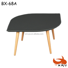 wood leg coffee table wrap PVC / cheap sofa side table