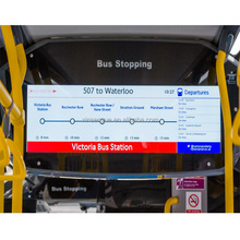 Bus on board route map digital advertising cctv lcd monitor