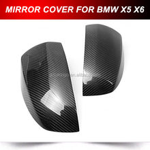 for BMW X5 E70 Mirror Cover cap carbon fiber stick on type (Fits: BMW X5)