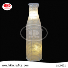 Indoor lighting bottle shaped design paper lamp shades for floor lamps