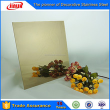 No.8 Mirror Ti-Brass Finish stainless steel decorative sheet