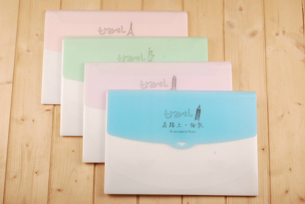 unique low price gift set A4 with printing expanding file folder