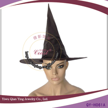 black velvet witch hat chicken party hat with balls