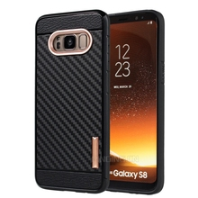 Hot New shockproof pc tpu hybrid phone case for samsung s8 carbon fiber