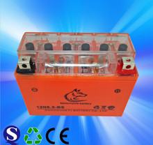 Manufacturer dry cell 12v motorcycle battery 12N6.5-BS