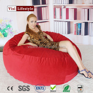 Microsuede cover 5ft foam bean bag, big soft fashion bean bag filling