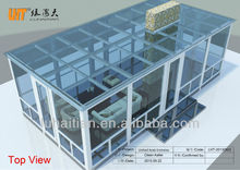 newest design warmly laminated glass sun room as green garden house glass room