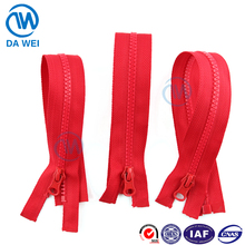 DAWEI brand newest made in china factory sale strong packing special teeth no.5 plastic zipper