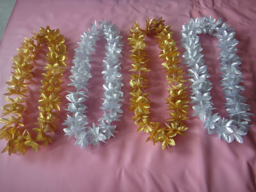 Promotional Polyester 60cm hawaii leis from hawaii in bulk