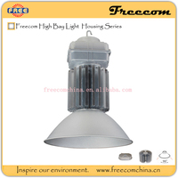 Freecom led industrial high bay lighting with silver anodizing surface treatment