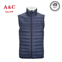 New Fashion Waterproof Winter Coat Sleeveless Men's Down Vest Jacket