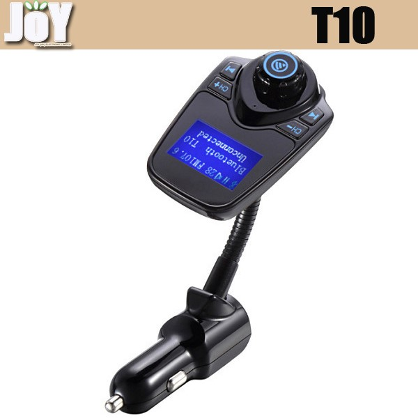 New Arrive T10 Car Kit bluetooth mp3 player with FM Transmitter with USB Port Charger support TF card Handsfree
