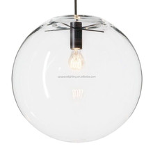 (XCP7538) modern powder-coated metal clear glass ball Selene pendant light