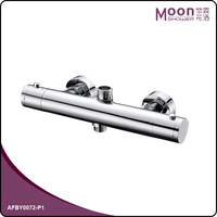 Wall mounted bathroom thermostatic bath shower mixer