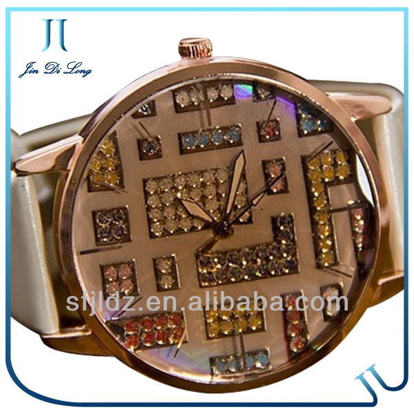 2013 Beautiful Stone Decorated Women Watches watch with thermometer and compass
