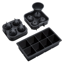 RJSILICONE silicone ice ball mold silicone ice cube tray oem best sphere silicone 4-Cavity ice cube tray