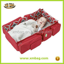 2 in 1 outdoor portable foldable baby bed crib cot travel bags with compartments