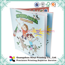 Cheap custom sticker book postcard book printing with perforation
