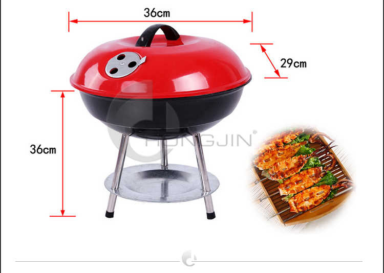 Hongjin 14 Inches Portable Charcoal Grill